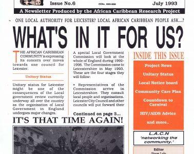 African Caribbean Citizens Forum (ACCF): July 1993 image