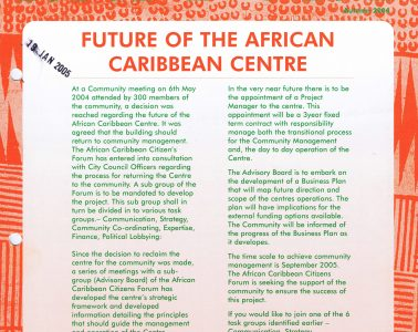 African Caribbean Citizens Forum (ACCF): Autumn 2004 image