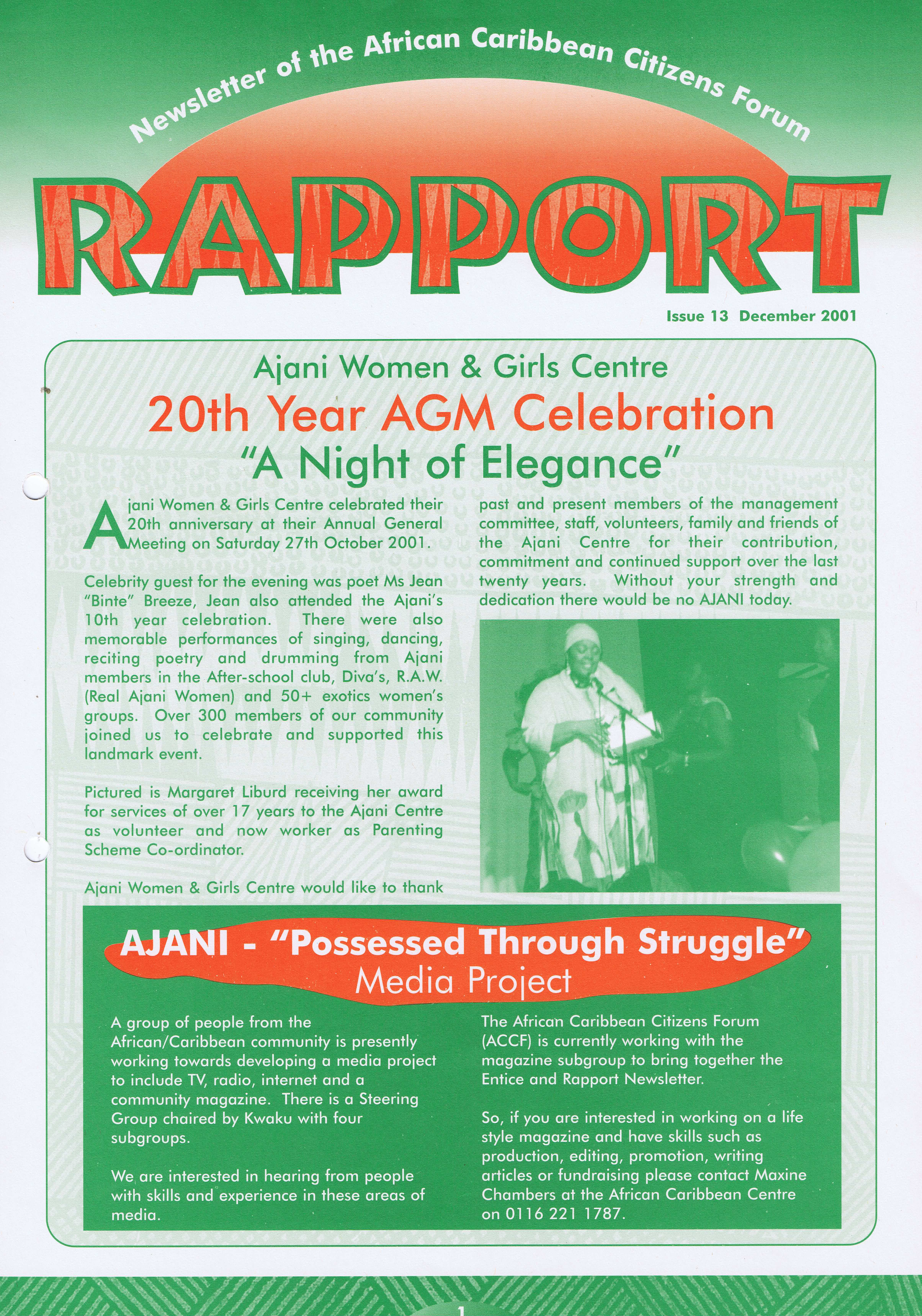 African Caribbean Citizens Forum (ACCF): December 2001 — Page Banner