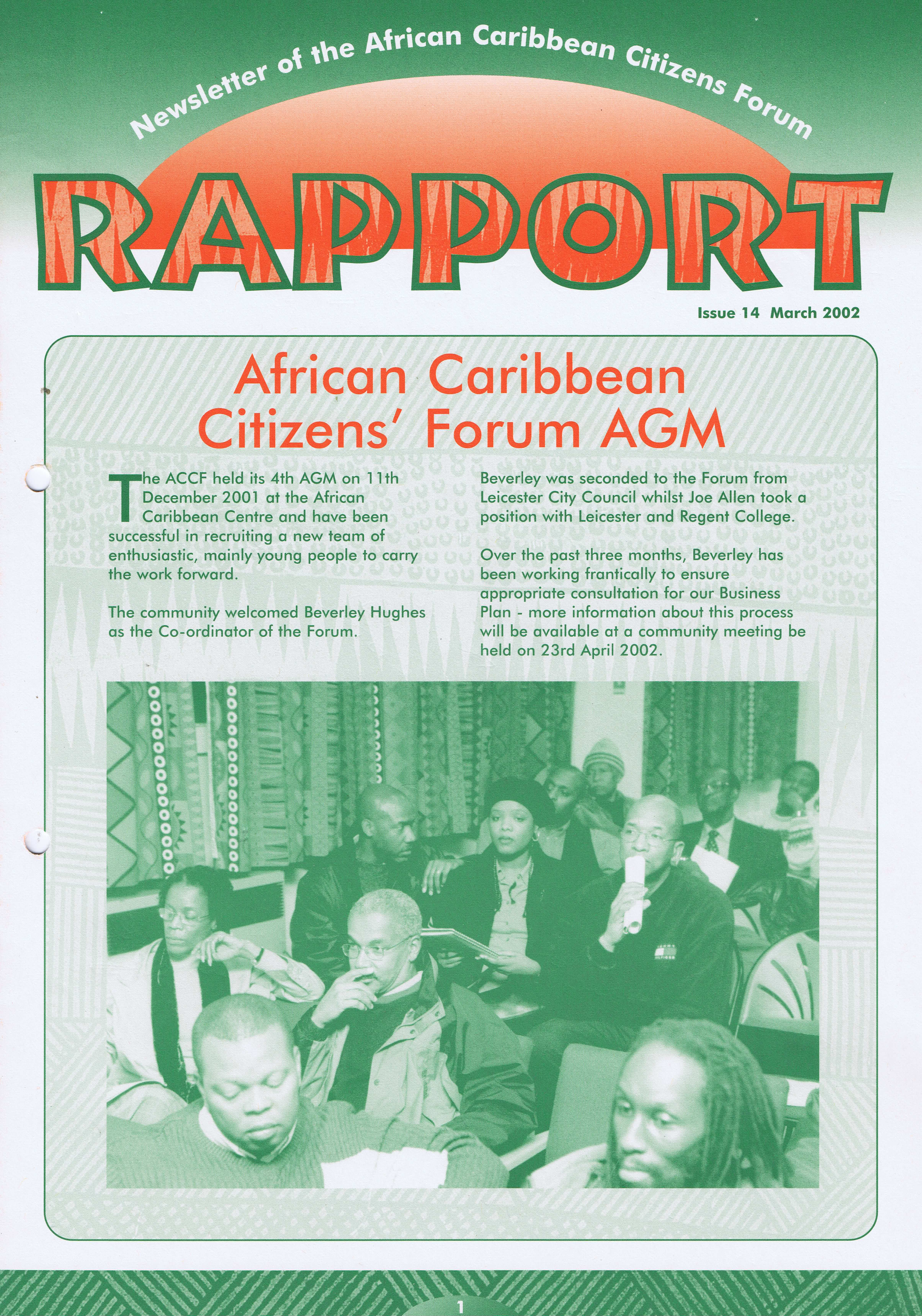 African Caribbean Citizens Forum (ACCF): March 2002 — Page Banner