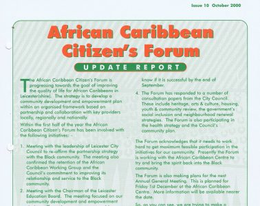 African Caribbean Citizens Forum (ACCF): October 2000 image
