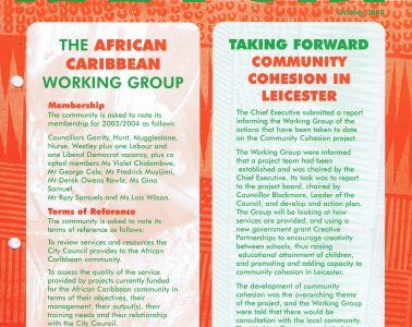 African Caribbean Citizens Forum (ACCF): October 2003 image