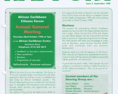 African Caribbean Citizens Forum (ACCF): September 1998 image