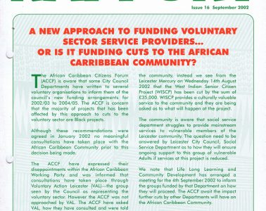 African Caribbean Citizens Forum (ACCF): September 2002 image